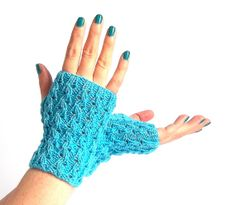 Fingerless Gloves. Fingerless Mittens. Knitted by MallinaDesign, $28.00