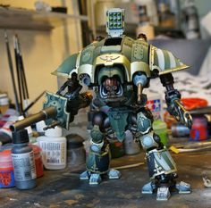 40k Hobby Blog: 30K Imperial Knight With Interior WIP 4