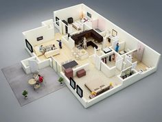 1 Bedroom House Designs Stunning Casa Pequena 1 Quarto  Floor Plans  Pinterest  Smallest House Inspiration