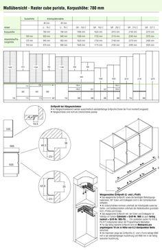 Awesome Bauformat Programm Ma e Fronten APL Griffe Korpusfarben