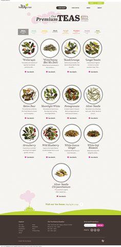 White - Loose Leaf Tea   The Tea Factory #tea #webdesign #picto