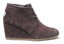 In case anyone needs to get me a present for any reason at all... Chestnut Suede Women's Desert Wedges #toms