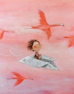 Pinzellades al món: A imaginar! / To imagine! Little Girl Illustrations, Arte Sketchbook, Arte Popular, Children's Book Illustration, Whimsical Art, Cute Drawings, Cute Art, Watercolor Art, Artwork