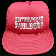 Vintage Enterprise Builders Red Mesh American Trucker Snapback Baseball Hat Cap | Clothing, Shoes & Accessories, Men's Accessories, Hats | eBay!