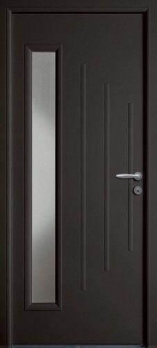 porte acier  porte entree  bel u0026 39 m  classique  poignee rosace couleur argent  mi