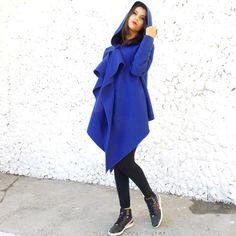 Items similar to Cashmere Asymmetrical Coat / Oversize Tunic / Wool Hooded Coat / Women Asymmetrical Tunic on Etsy Ladies Hooded Coats, Hooded Wool Coat, Asymmetrical Coat, Urban Fashion, Dress To Impress, Dress Skirt, Cashmere, Tunic, Urban Style