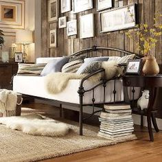 Pick Up At Store ( Walmart & Sam's Club ): Lauren Camel Back Antique Dark Bronze Daybed Daybed Couch, Daybed Room, Daybed Sets, Daybed Bedding, Sofa Beds, Sleeper Sofa, Bedding Sets, Bedroom Furniture, Bedroom Decor