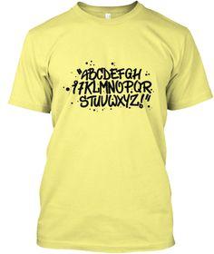 Abcdefghijklmnopqrstuvwxyz Lemon Yellow  T-Shirt Front