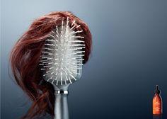 Divertido anuncio para la caída del cabello.