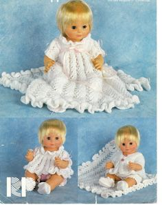 vintage doll clothes dk knitting pattern 99p in Crafts, Crocheting & Knitting, Patterns | eBay