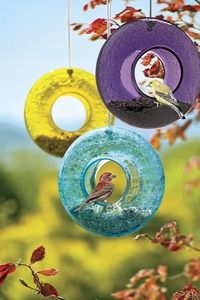 Glass Bird Feeders