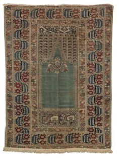 A GHIORDES PRAYER RUG Types Of Rugs, Prayer Rug, 18th Century, Prayers, Auction, Decor, Rugs, Decorating, Beans