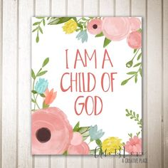 Lds church, church ideas, latter day saints, digital prints, church nursery Lds Church, Church Ideas, Baby Dedication, Church Nursery, Girl Nursery, Girl Room, Nursery Ideas, Bedroom Ideas, Printable Quotes