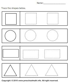 Looking for a Tracing Shapes Worksheets For Preschool. We have Tracing Shapes Worksheets For Preschool and the other about Benderos Printable Math it free. Shape Worksheets For Preschool, Shape Tracing Worksheets, Shapes Worksheet Kindergarten, Tracing Shapes, Alphabet Worksheets, Preschool Learning, Kindergarten Math, Preschool Activities, Kids Worksheets