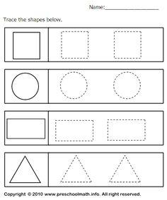 Shapes Worksheets For Preschoolers - geometry worksheets shapes ...