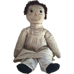 Early 1900's Volland Cloth Raggedy Ann Doll