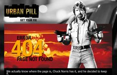 Chuck Norris making sure people don't break the web
