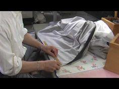 和裁、着物の縫い方、裾の横とじ1 - YouTube