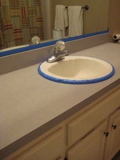 how to paint over laminate counter tops - may try this one for sure!