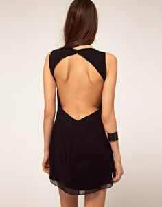 Embellished Tunic Dress with Open Back from asos