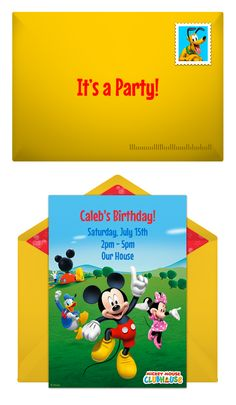 Paper invites are too formal, and emails are too casual. Get it just right with online invitations from Punchbowl. We've got everything you need for your Disney themed party. http://www.punchbowl.com/disney/groups/mickey-mouse/?utm_source=Pinterest&utm_medium=1.33P