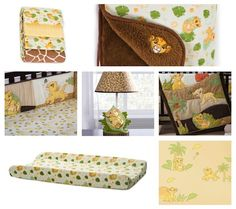 Lion King Nursery Collection. Omg this would of been perfect when I was a baby!