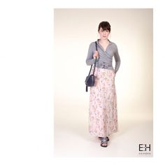 •E N I H O R N CAMPAIGN SS'17• One of my #fave pieces of the #collection the ZOE skirt! It has a double layer, a #floral and a #striped. A good combination with the ELLA #cardigan and the LISANNE #navy #bag 💕 . . #leatherbag #campaign #designer #hungarian #girl #ootd #fashion #monday #humpday
