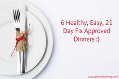 A week's worth of healthy, easy, 21 day fix approved dinner recipes :)