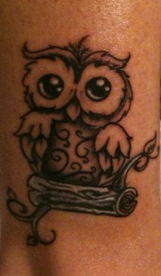 What a cute Owl Tattoo!