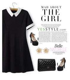 """Yes style promotion"" by mell-2405 ❤ liked on Polyvore featuring Kershaw, Chicsense, JY Shoes, Bense Bags, Spring, springfashion and yesstyle"