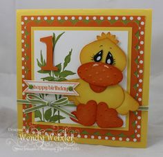 Stampin' Up! Punch Art  by Wendy W at Wickedly Wonderful Creations: Quack!!