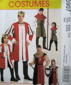 McCalls 5907 Size 3 to 8 Reenactment Renaissance Medieval Costume Holloween Printed in 2009 Retail Cost 15.95 New Uncut Unused Factory Fold Non smoking Non pet home Please ask questions No returns on patterns as they are too easily copied. No returns on Patterns as they are too easily copied
