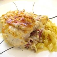 Baked Chicken With Dried Beef Recipe