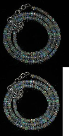 Fire Opals 69184: 30Tcw 15 3To4.5Mm Natural Ethiopian Welo Fire Opal Faceted Beads Necklace 97292 BUY IT NOW ONLY: $49.99