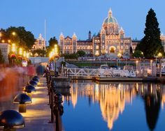 Victoria BC - Victoria Harbour. Seen this in real life and it really is this stunning :)
