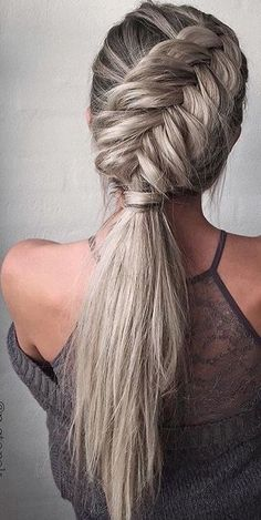 40 Trendy Braided Hairstyles For Long Hair To Look Amazingly Awesome;Beautiful prom hairstyles long hairstyles for teens. hairstyles 2018 40 Trendy Braided Hairstyles For Long Hair To Look Amazingly Awesome Cute Braided Hairstyles, Teen Hairstyles, Wedding Hairstyles For Long Hair, Braids For Long Hair, Ponytail Hairstyles, Pretty Hairstyles, Hairstyles 2018, Braided Ponytail, Edgy Updo