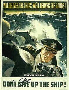 Deliver ships WW2 Poster