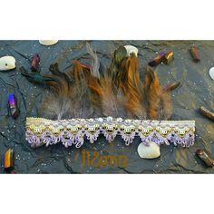Desert jewel feather crown gypsy boho bohemian by LouLeeAndMe