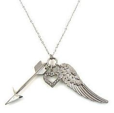 """Now comes in silver! The Lila, charm necklace. Only $12.60 BUT get an extra 10% off & FREE shipping, with discount code """"0209"""" at checkout!"""