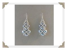 Gray right angle weave earrings - Beading Daily by Jersica