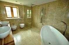 bathroom stone - white