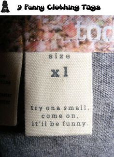 9 Funny Clothing Tags