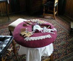 Bobbin Lace - Pillow and bobbins