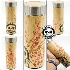 These are limited edition hand painted Capped Cherry Blossom Bamboo BAM SHIFTS Thermos's!!!  On the store for a short time.  Up on the store @   #bamshifts #bamshift #bamboo #shiftknobs #shifter #handmade #custom #panda #stayfresh #subaru #mazda #nissan #honda #toyota #ford #scion #hyundai #acura #drift #rally #bam #volkswagen #jdm  #stayfreshmyfriends #japan #makeshiftingfun #rallycar #sosick #cherryblossom #limited