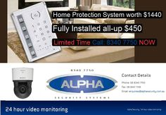 Alpha Security Systems offers high security, cabling and Hi Tech installation system for improved security of your home and office. We offer trusted Security System Installation and servicing in Adelaide.   You can keep your eye on your property while travelling to distant places.  Address: Adelaide SA 5000  Phone No: (08) 8447 7149