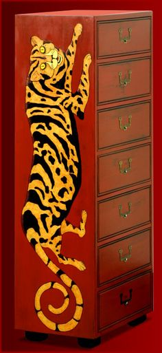 Leopard Cabinet ©Mary E. Carter - Hands of an Artist Productions
