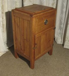 Pine Ice Box Or Refrigerator From Around 1890 - Antiques Atlas