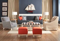 Libby Langdon Upholstery Furniture for Braxton Culler - contemporary - Living Room - New York - Libby Langdon Interiors, Inc.