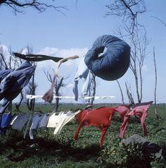 Victor Meeussen Wapperend wasgoed in de omgeving van Scheveningen (1950-1959)