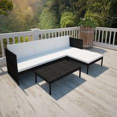 Clean and Care Garden Furniture - Clean and Care Garden Furniture - Black Outdoor Poly Rattan Three-Seater Lounge Set. This rattan lounge furniture set combines style and functionality. It will be the focal point of your garden or patio. The rattan lounge set is hard-wearing enough to be used outdoors year round. Thanks to the weather-resistant and waterproof PE rattan, the lounge set is easy to clean, hard-wearing and suitable for daily use. - Well maintained and maintained garden fu...
